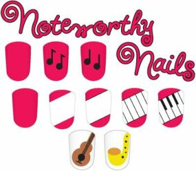 Piano keys are just one idea in the noteworthy nails nail art design.