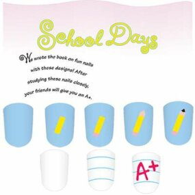 The school days nail art idea