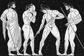 illustration of greek athletes