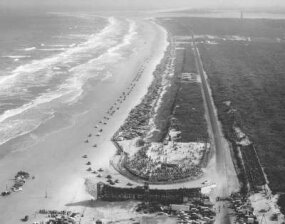 In the early days of NASCAR racing, all tracks were dirt, except for the Daytona Beach & Race Course, which was only partially paved.