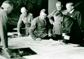 Much of the strategic planning for World War II's Operation Barbarossa was carried out at Adolf Hitler's Alpine retreat -- the Berghof -- during high-level conferences such as this one.