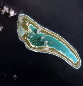 nikumaroro atoll from above