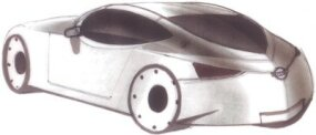 The European Nissan 350Z sketch had a boat-tail theme.
