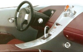 An interior proposal from Nissan Design America portends the use of aluminum on the center console.
