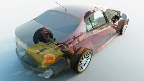 transparent hybrid car