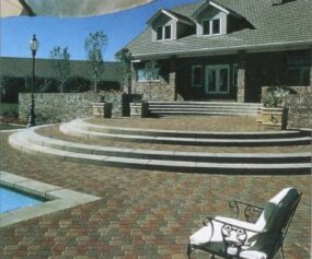 These bricklike pavers provide a stable surface that supports all kinds of outdoor activities.