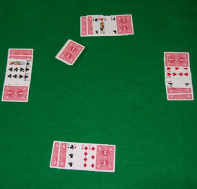 A game of seven-card stud at the river