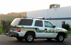 The Chevy Tahoe is another popular North American police vehicle.