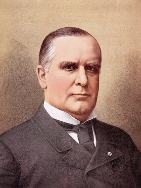 president william mckinley color portrait illustration
