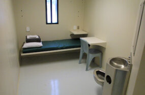 A cell at the Maine State Prison in Warren, Maine.