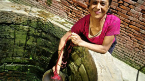 public water well, Nepal