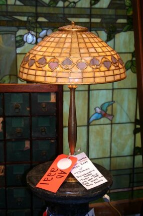 One of several Tiffany lamps featured at the most recent Red Baron auction
