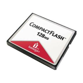 This CompactFlash card holds 128 MB!