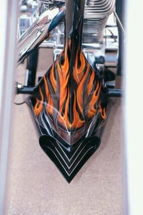 The flames on Rock Hard have soft, undefined edges, unlike most flame paint jobs.