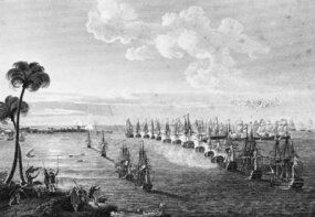 British and French navies at Aboukir Bay