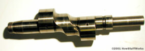 The output shaft (Note the eccentric lobes.)