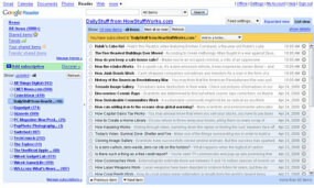 Google Reader is one of many feed readers available on the Web.