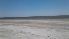The beach at Sapelo Island.