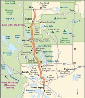 This map of Minnesota's Edge of the Wilderness will take you to countless opportunities for recreation in gorgeous natural settings.