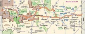 View Enlarged Image This map of Historic Route 66 will take you all the way across northern New Mexico.