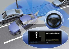 Seimens VDO's Park Mate would help drivers find parking spots as well as park in them.