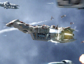 Serenity was attacked by the Reavers and Alliance ships without a sound.