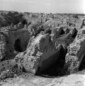 This June 24, 1950, photograph captures the supposed site of the Hanging Gardens of Babylon.