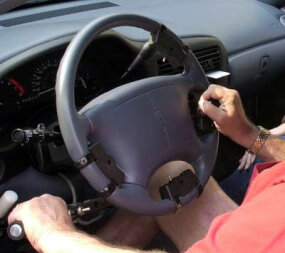 Having a spinal cord injury doesn't necessarily mean you have to stop driving. Adapted hand-controls on the steering wheel allow the driver to accelerate and brake. Certified driver rehabilitation specialists and occupational therapists can conduct evaluations and provide driving lessons to both new and experienced drivers with a wide range of disabilities.