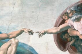 Detail from Creation of Adam.