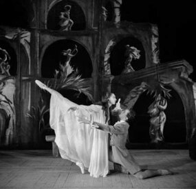 "1958: Nina Vyroubova and Serge Golovine in ""The Sleepwalker,"" by International Ballet of the Marquees de Cuevas­"
