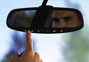 The 2004 Chrysler Pacifica features an auto dim electrochromic rearview mirror.