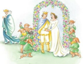 Snow White and the prince were married.