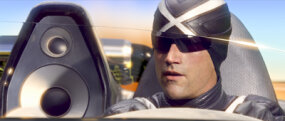 Matthew Fox as Racer X in his all-leather suit.