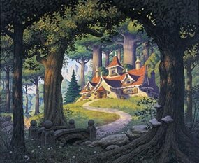 "Original acrylic painting, ""Rivendell"": $35,000.00"