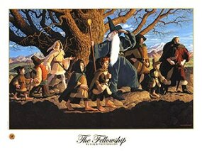 """The Fellowship of the Ring"" lithograph: $35.00"