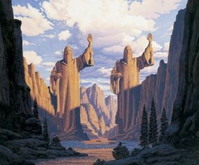 Art from the Hildebrandt brothers' popular Tolkien calendars.