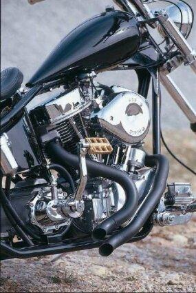 Suicide Jockey's Harley-Davidson engine.