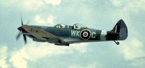 A novel two-place Supermarine Spitfire.