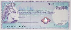 Travelers Check from American Express