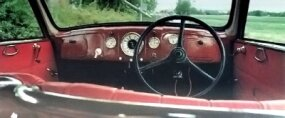The dash would have looked at home in a Ford of the period.