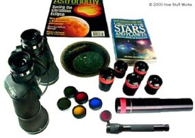 Typical set of observing supplies.