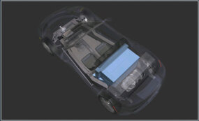 The Energy Storage System is located in the rear of the vehicle.