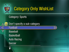 TiVo's WishList search tool