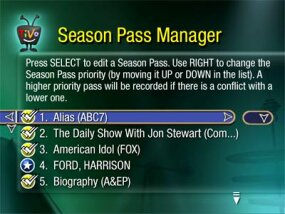 TiVo's Season Pass feature