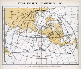 1918 total solar eclipse map