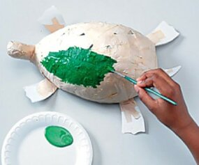 Get creative when you paint your turtle.