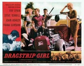 Movies sometimes featured real hot rod racers, like Tommy Ivo, who appeared in 1957's Dragstrip Girl.