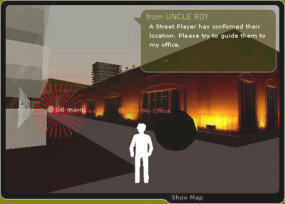 "One of the online player screens in ""Uncle Roy All Around You"""