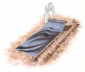 Landscape fabric mulch is a good alternative to organic mulches.