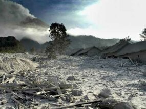 volcanic ash in central java